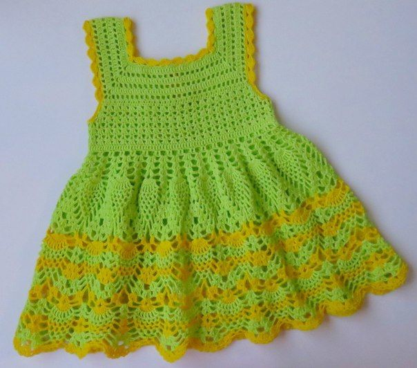 Como hacer un vestido a crochet para niñas02