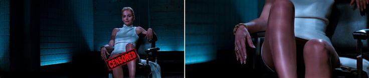 Basic instinct sharon stone and famous Basic insticnt leg cross interrogation scene
