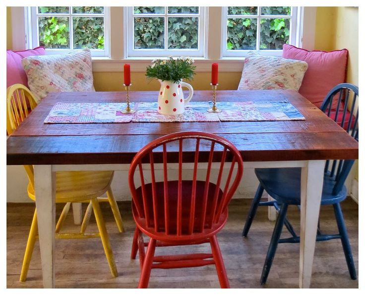 99 best images about Dining Tables & Chairs Chalk Paint