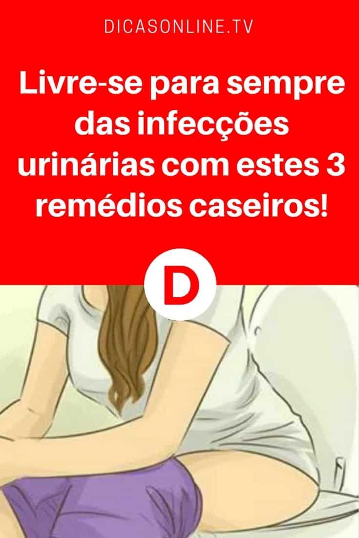 Livre-se para sempre das infecções urinárias com estes 3 remédios caseiros!   São três remédios que vão curar você definitivamente. Aprenda as receitas ↓ ↓ ↓ #remedioscasersos #infeção