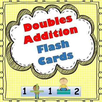 Doubles Addition Flash Cards! FREEBIE!