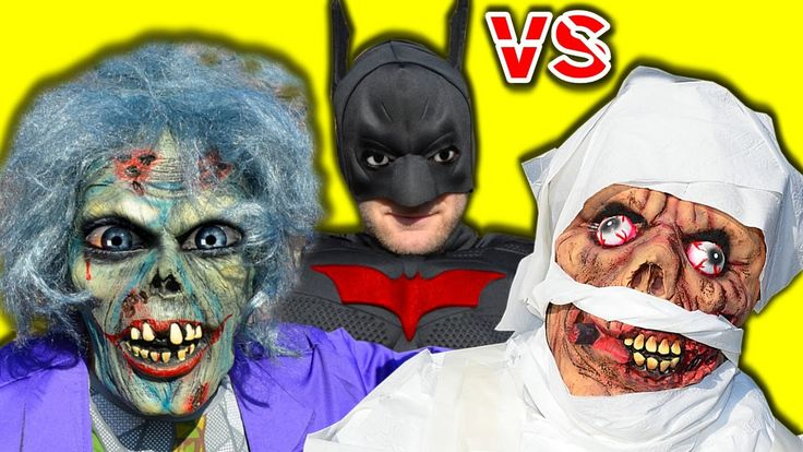 Batman vs Crazy Joker Zombie vs Mummy Castle Zombies In Real Life Superh...
