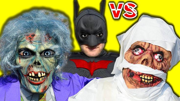 Batman vs Crazy Joker Zombie vs Mummy Castle Zombies In Real Life Superh...