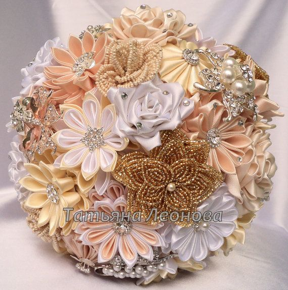 Hey, I found this really awesome Etsy listing at http://www.etsy.com/listing/157813300/fabric-wedding-bouquet-brooch-bouquet