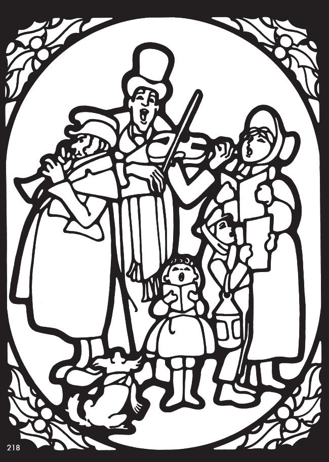 Christmas Carols Coloring Page From The Giant And Activity Book More Great Examples Activities Provided At Amazing Publisher