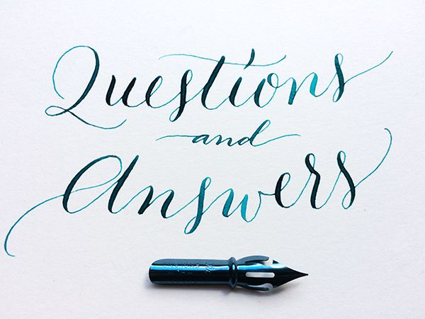 Q&A – Fountain pens & calligraphy kits – what works & what doesn't © Julia Bausenhardt