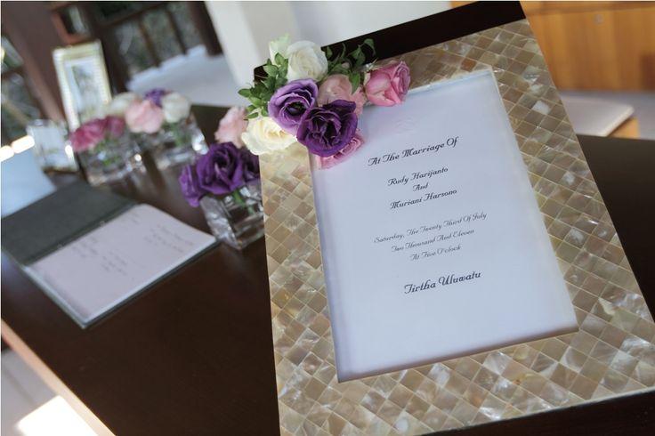 Registration Table decoration by Tirtha Bridal Uluwatu Bali