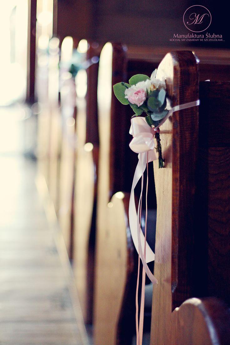 #wedding #church #decorations  #flowers #romantic #style #ślubne #dekoracje #kościół #kwiaty