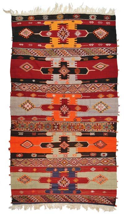 Vintage Sivas Kilim around 40 years old.