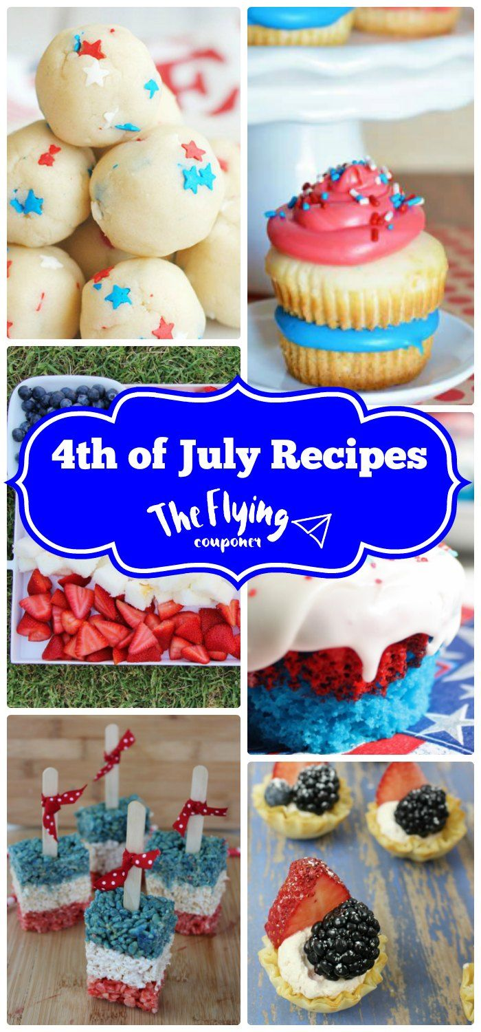 Fun 4th of July Dessert Recipes. These patriotic recipes are also perfect for Memorial Day and Independence Day. Celebrate with these red, white, and blue desserts. The Flying Couponer | Family. Travel. Saving Money.