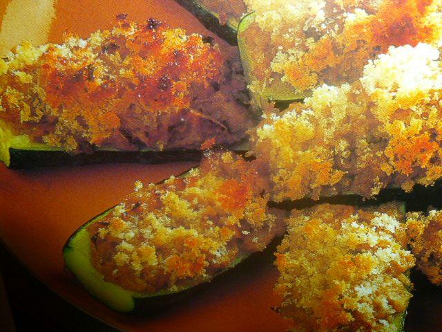 barchette di zucchine ripiene saporite