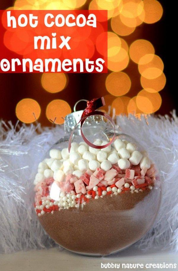 DIY Hot Cocoa Mix Christmas Ornaments