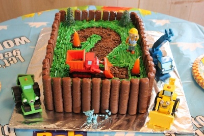Bob the Builder cake I baked for my  youngest son's 2nd Birthday.