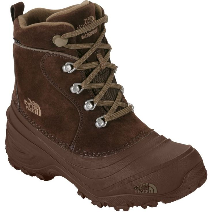 The North Face Kids' Chilkat Lace II 200g Waterproof Winter Boots, Kids Unisex, Size: 3, Brown