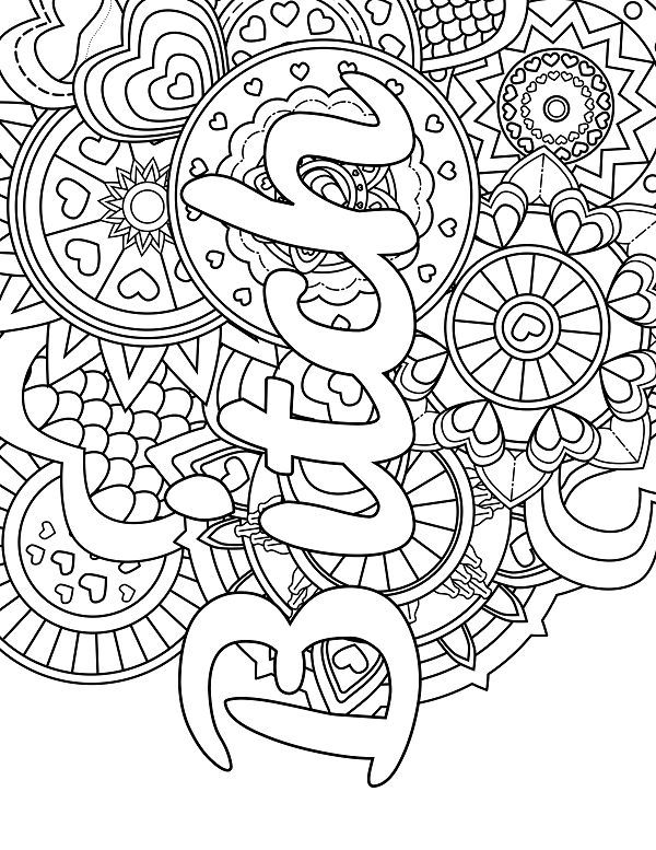 Gorgeous image in printable swear word coloring pages