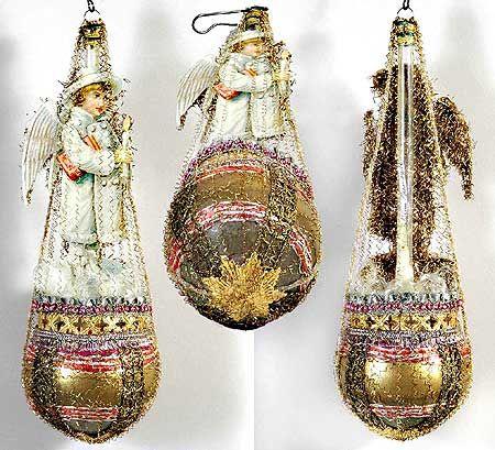Victorian Christmas Ornaments | Dresden Star Heirloom Ornaments