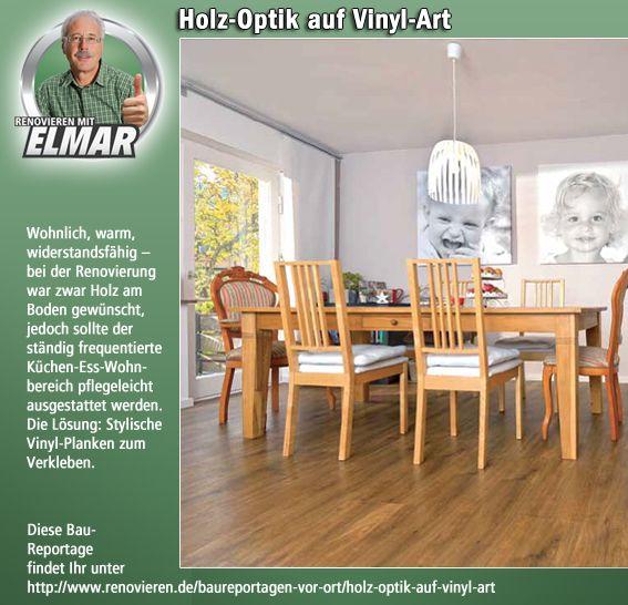 Interessante neue Baureportage: Holz-Optik mit Vinyl-Planken schaffen.