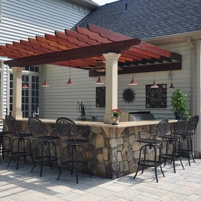Outdoor Bar Ideas Time To Take The Party Patio From Lisa Her Dream Board Pinterest Backyard And Kitchen