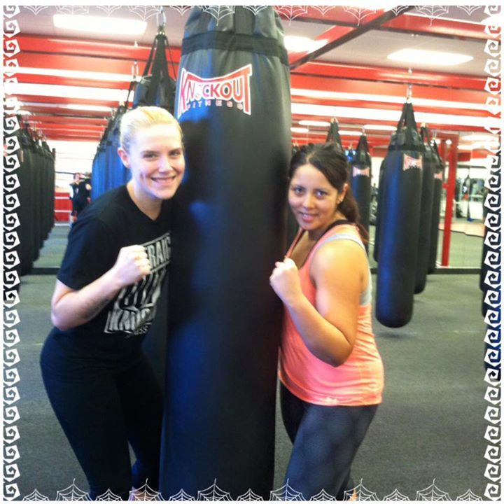 """Norma Chávez is our Goodyear member of the week her story is: """"I love working out at Knockout! I have been a member for almost four years and I look forward to working out everyday. I enjoy sparring with members, and taking classes because they are very motivating and the instructors at Knockout are awesome! I have most recently started lifting weights and I feel stronger everyday. Knockout is a great place to work out and have fun."""" Thanks for being a loyal member, Norma!"""