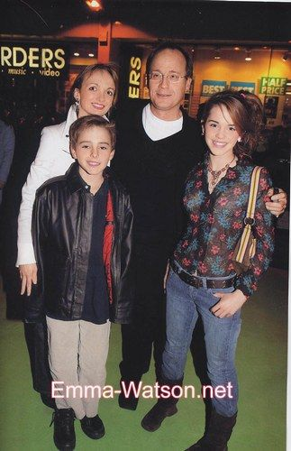 young emma and alex watson with parents