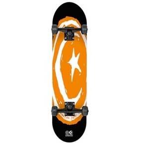 Foundation Skateboards  Foundation Star & Moon Orange Neon Complete  7.75x31.5