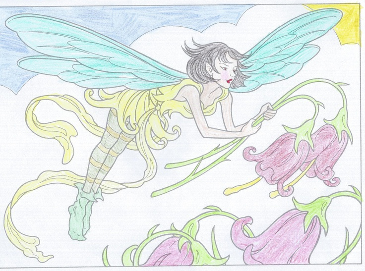 Tori D. (Under 12 division) from Fairies to Paint or Color: http://store.doverpublications.com/0486465446.html