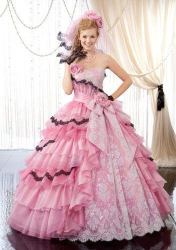 Roze! Een prachtige #roze #trouwjurk met een #vintage uitstraling. #Love it or #hate it. @ www.xless.nl