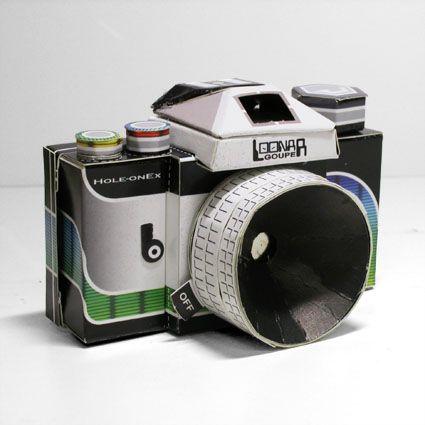 Собери фотоаппарат из бумаги!