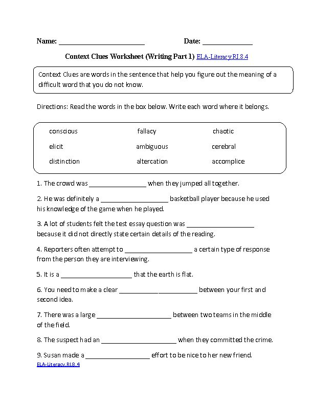 Printables English Worksheets For 8th Grade grade english worksheets davezan 8th davezan