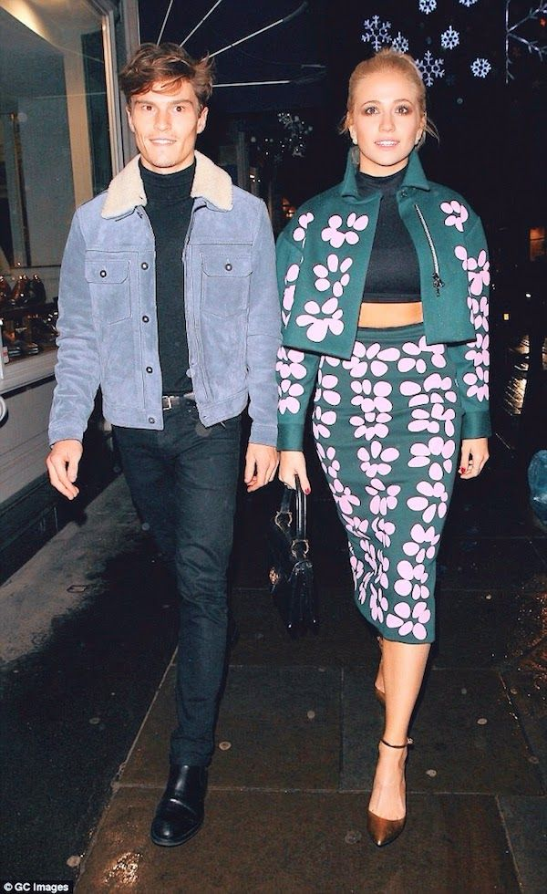 Oliver Cheshire in Coach - London Street Style http://www.whats-he-wearing.com/2014/12/oliver-cheshire-wears-coach-blue-leather-jacket-london-street-style-coach-Fall-2015-presentation-london-collections-men-lcm.html