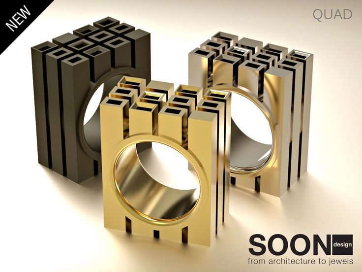 NEW QUAD RING - available for sale http://www.shapeways.com/model/2992796/quad-ring-size-7.html?li=shop-results&materialId=85