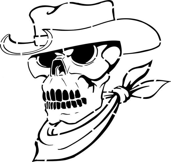 Cowboy Skull Stencil by Crafty Stencils