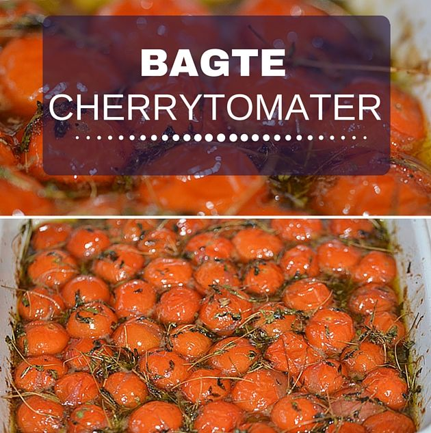 Cherrytomater, der bliver bagt i ovnen med olie, balsamico og lidt sukker forvandles til intense små smagsbomber.