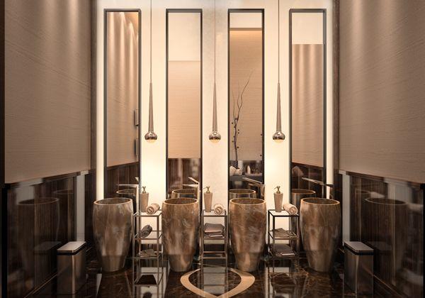 Best 25 wc design ideas on pinterest toilet tiles toilettes deco and blue white bathrooms - Deco toilet grijs ...