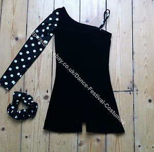 Black and white spot dance costume Black and white spotty dance costume  Black and white polka dot dance costume Perfect for modern solo, tap solo, jazz solo and more.