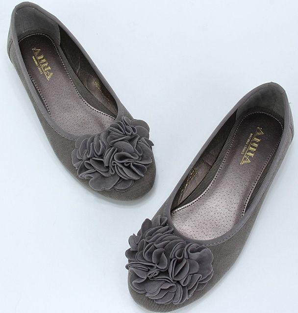 Cute Womens Flat Sandals Flat Heel Flats Closed Toe Round Toe Gray Cloth 2012 Women's Shoes