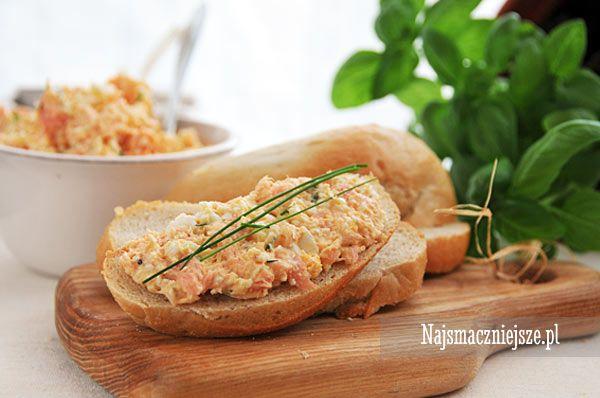 Pasta łososiowa z jajkiem #łosoś #salmon #najsmaczniejsze #food #śniadanie