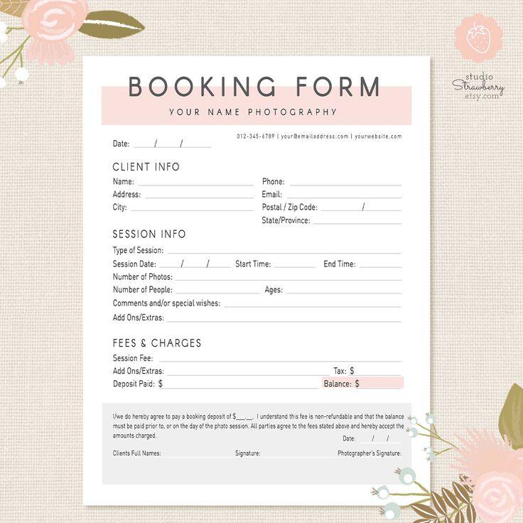 Fotografía formas cliente reserva formulario de fotógrafo