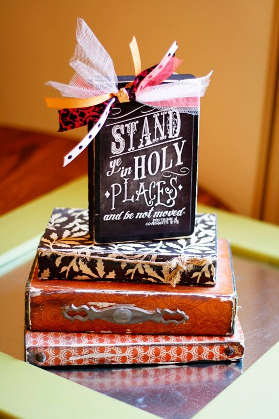 Stand In Holy Places (2013 YW/YM Theme) Wood Block Decoration