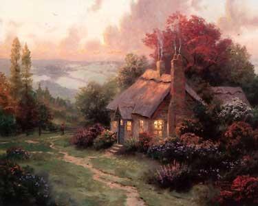 Welcome Home - Thomas Kinkade - World-Wide-Art.com - $625.00 #Kinkade