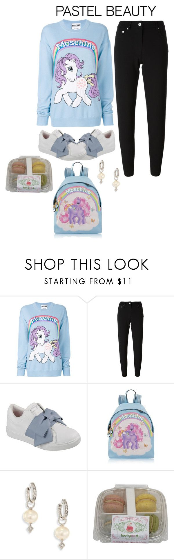 """""""My little pony"""" by perpetto ❤ liked on Polyvore featuring Moschino, Skechers, JudeFrances and pastelsweaters"""