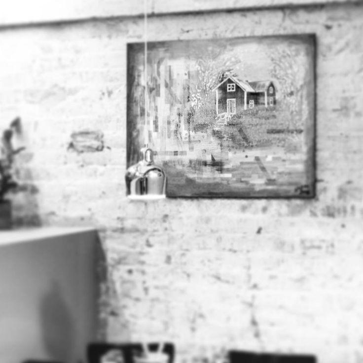 ...once upon a restaurant wall ... 'Thoughts of summer' (100cm x 80cm, acrylic-on-canvas, 2008)    #art #instaart #artist #artistsofinstagram #finland #hoganfinland #canvas #instalike #instalikes #konst #taide #konstnär #artcollection #artcollectors #instaartist  #instapainting #finearts #fineart #artist_sharing #artnerd #artcollective #artofinstagram #ilduetto #artistlife #artlife #worldofartists #supportart #paintings #painting #instaart #kamppi