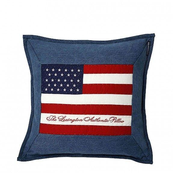 Lexington Arts & Crafts Denim Cushion   Occa-Home.co.uk