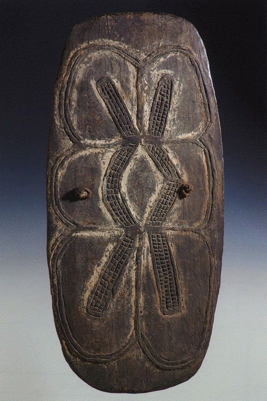 PNG wooden shields from the The Dick Jemison Tribal Art Collections