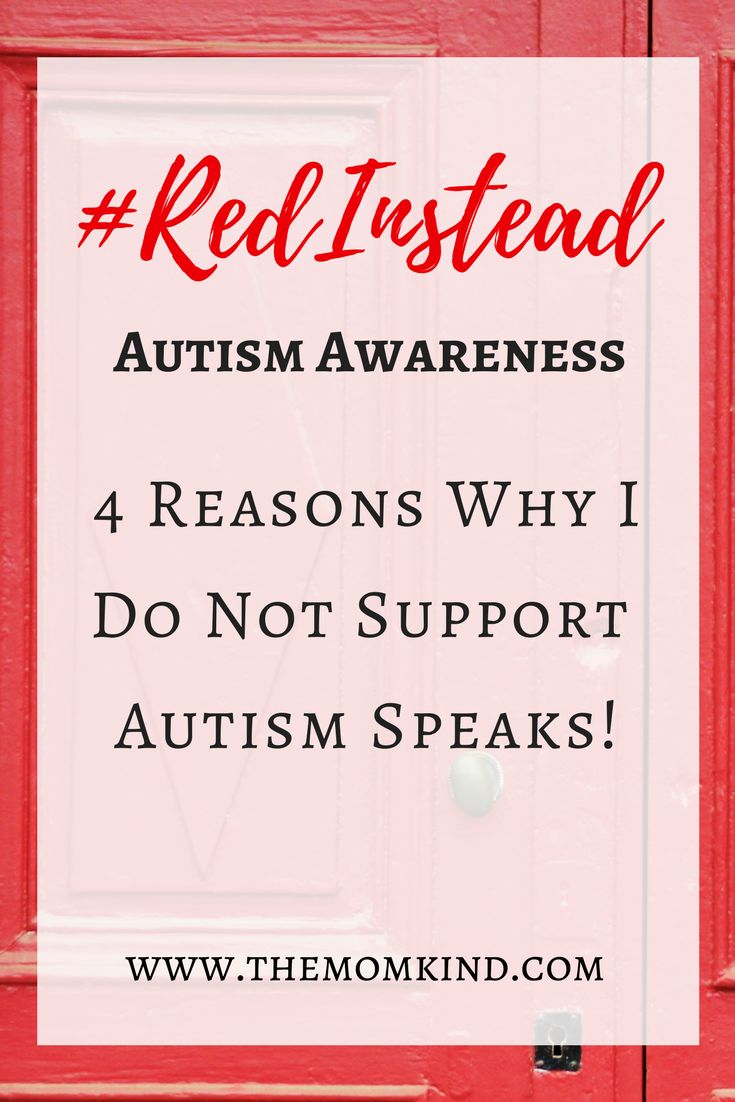 #RedInstead Autism Awareness: Why I do not Support Autism Speaks