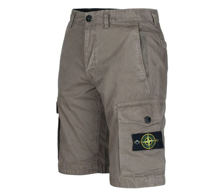 Stone Island brushed cotton shorts in dove grey