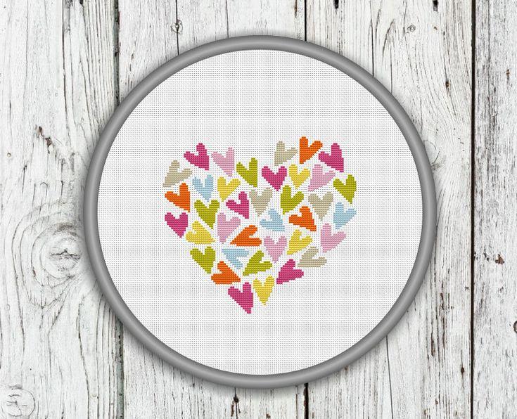 Valentinstag gezählt Kreuzstich-Muster Liebe von CrossStitchShop
