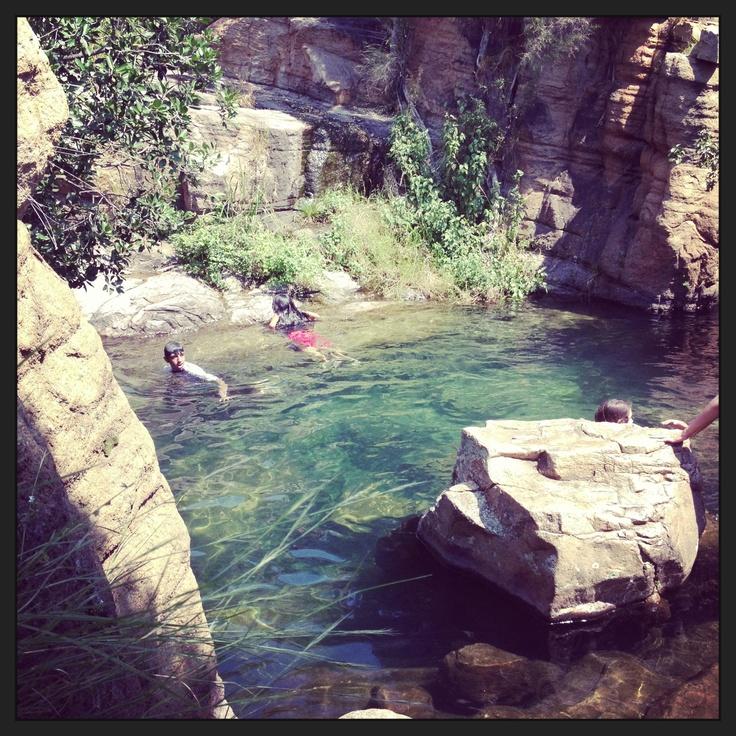 Rock pools at mountain sanctuary park
