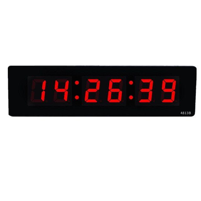 Livingroom Electronic Digital Led Wall Clock Luminous Silent Desktop Clock Simple Time Display Big Wall Clock Home Led Wall Clock Big Wall Clocks Desktop Clock