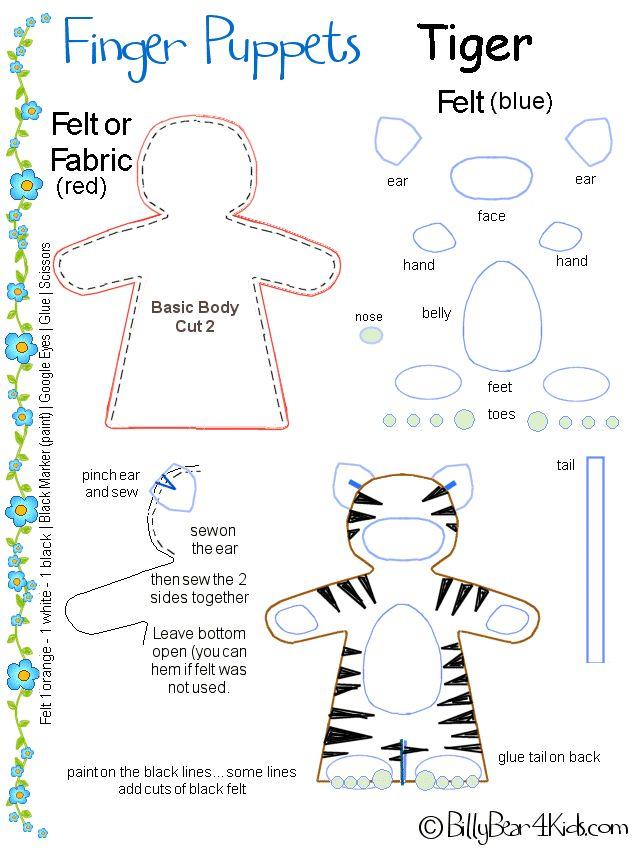 tiger puppet template - 161 best puppets images on pinterest hand puppets felt